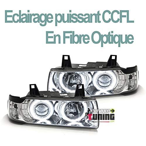 europetuning - 02959 - PHARES FEUX AVANTS ANNEAUX CCFL ANGEL EYES SERIE 3 E36 COUPE CABRIOLET