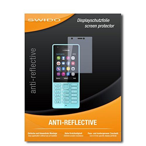"2 x SWIDO® Pellicola Protettiva Microsoft Nokia 216 Dual Sim Screen Protector Pellicola Protettiva Film ""AntiReflex"" antiriflesso"