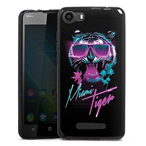 DeinDesign Wiko Lenny 2 Silikon Hülle Case Schutzhülle Miami Tiger Sonnenbrille