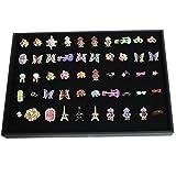 Nalmatoionme Portagioie organizer, scatola espositiva con 100griglie per anelli, orecchini, spille e altri gioielli