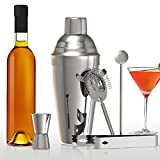Cocktailshaker Set, METALBAY Cocktail Set Edelstahl Bar enthält mit Cocktail Shaker + Cocktail Messbecher + Cocktail Sieb + Eiszange + Löffel