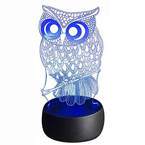 arbe ändern mit Fernbedienung - USB LED - Home Dekoration, Geschenke, Kinder (Eule) ()