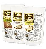 Dr. Almond Paleo Brot Backmischung PROBIERPAKET 'MILD & HELL' low-carb glutenfrei sojafrei (3er Pack mit 3 Sorten), Das Original LIMITED EDITION!