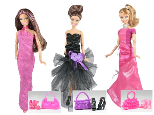 vtements-barbie-la-collection-des-hollywood-set-de-3-robes-poupees-non-incluses