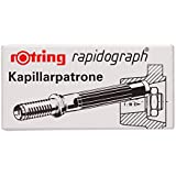 Rotring 194640 Rapidograph Ink Capillary Cartridges - Box of 3, Black