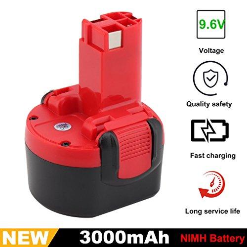Dpower 9.6V 3000mAh Ni-MH Akku für Bosch Akku Batterie BAT048 100 119 GDR GSR PSR 9.6 VE-2 960 607335373, 2607335453, 2607335461, 2607335469, 2607335524 usw.