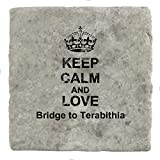Keep Calm and love Bridge to Terabithia - Marble Tile Drink Coaster