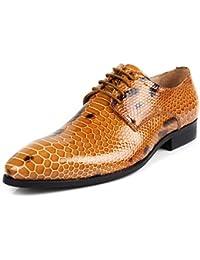 GRRONG Zapatos De Cuero De Los Hombres Trajes De Cuero De Vaca Banquete Moda Puntiagudo Puntiagudo