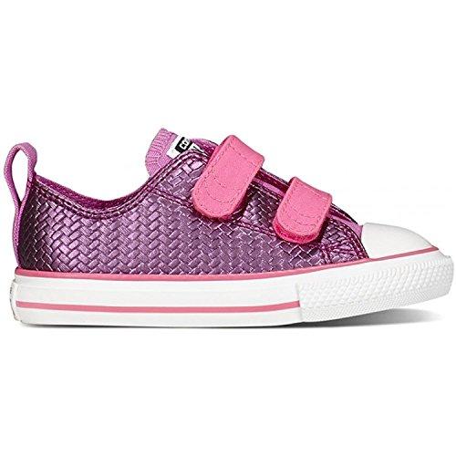 ConverseCt Shine 2V Ox - Sneaker Unisex - bambino Rosa (Rosa Sapphire)