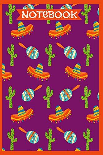 e Cactus Sombrero & Maracas Mexican Cinco De Mayo Design College Ruled Lined 6