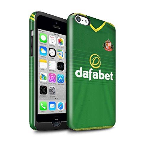 Offiziell Sunderland AFC Hülle / Glanz Harten Stoßfest Case für Apple iPhone 5C / Pack 24pcs Muster / SAFC Trikot Away 15/16 Kollektion Fußballer