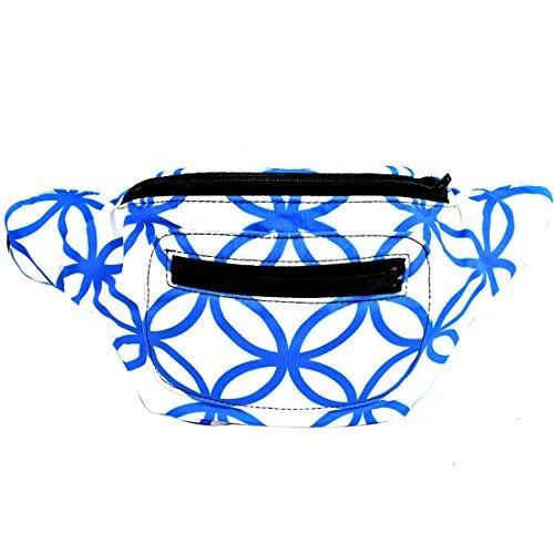 Modern Mosaic Fanny Pack, Stylish Arty Party Boho Chic Handmade w/ Hidden Pocket by Santa Playa -  Multi -