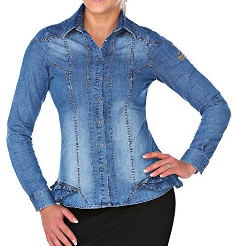 M.Conte Women Shirt Camicetta Manica lunga da Donna Larissa white Size S/M