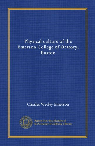 Physical culture of the Emerson College of Oratory, Boston