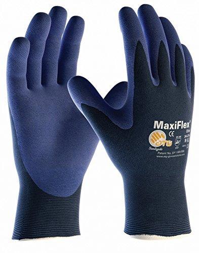 10er Pack MaxiFlex Elite Arbeitshandschuhe, Montagehandschuhe von DBI Trading, Größe:9 (L) - Elite 9