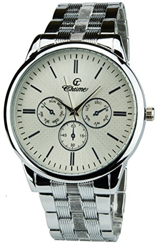 Geschenkset Herren Armbanduhr Silber- Schweizer Taschenmesser Taschenlampe - Brieftasche -Stift