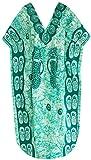 verschleiern Kleid Kimono v Hals Strand tragen Baumwolle Batikkleid Maxi Kaftan Top l-4x