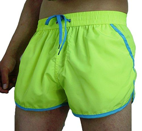 Eve Mode Herren Badeshorts Schwimmhose Badehose Shorts Gelb