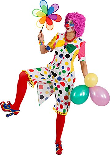 Clown Clownin Clownkostüm Augustina gepunktet Clownhose + Blazer - Clown-kostüme Erwachsene Für Professionelle