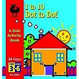 1 to 10 Dot to Dot Buki Activity Book Boat by Buki