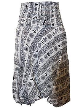 shopoholic FASHION OM stampa vestibilità larga Harem Pantaloni, great comfort pantaloni da yoga, hippy
