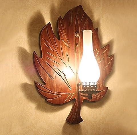 DMMSS Retro Nostalgische Persönlichkeit Kreative Blatt Wand Lampe Antique Bar