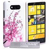 Yousave Accessories no-ka01-z314Schutzhülle für Nokia Lumia 820(Silikon Hot Pink/Weiß