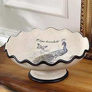 Continentale Nouveau ceramica americana frutta grande creative home decorazioni frutta i dadi della piastra di ciotola arredato tavolino n. B 31*14cm