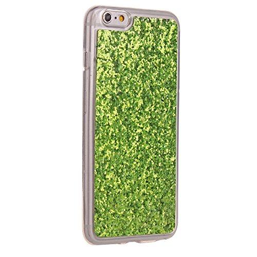 Cuitan TPU Glitzer Schutzhülle für Apple iPhone 6 plus / 6s plus (5,5 Zoll), Glänzende Puder Glitter Shinning Rück Abdeckung Case Cover Hülle Handytasche Rückseite Tasche Handyhülle für iPhone 6 plus  Grün