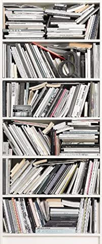Fototapete BOOKCASE 92x220 Bücher, modernes Bücherregal Bibliothek Bücherei Book