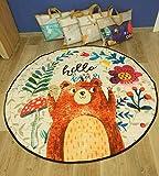 Baby Matt Kinderzimmer Groß Gepolstert Krabbeldecke Kinderteppich Speicher Tasche Kinder Aufräumsack 150 cm (Bär)