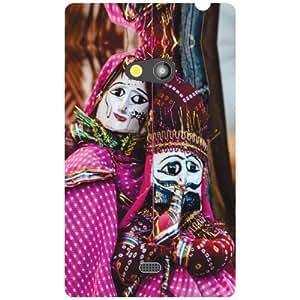 Nokia Lumia 625 Back Cover - Puppet Love Rocks Designer Cases