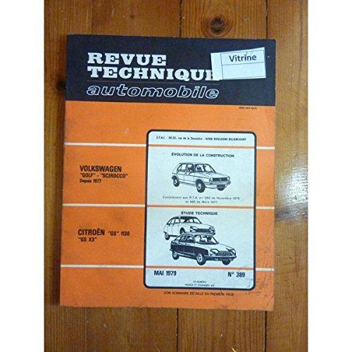 RTA0389 - REVUE TECHNIQUE AUTOMOBILE CITROEN GS 1130 - X3