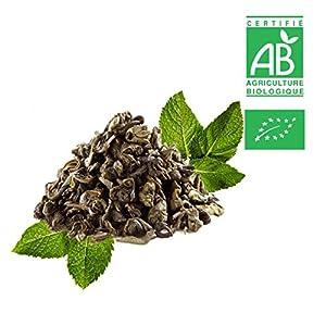 Thé vert menthe poivrée Bio - Sachet vrac 300g ? Certifié Agriculture biologique
