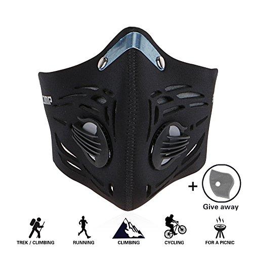 GoingMen Staubmasken Kalt Schutz Gesichtsmaske mit Ventil PM2.5 für Radfahren Wandern Fahrrad Motorrad Ski Sportart (2 Aktivkohle-Luftfilter)