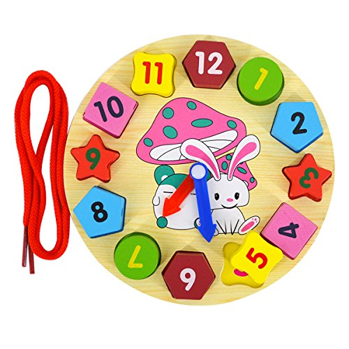 er Holz Form Sortierung Uhr Puzzle Time Zahl Form Farbe lernen Vorschule Educational Toys (Sortierung Board)