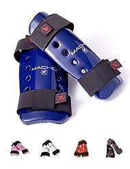 Macho Dyna espinillera - azul, color Negro - negro, tamaño extra-large