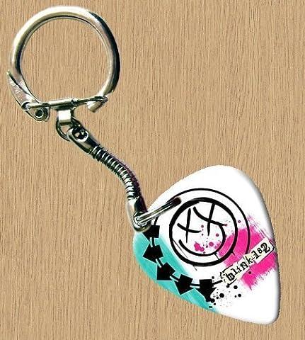 Blink 182(Blanc) Premium de Guitare Porte-clés