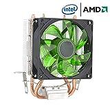 MasterCOOLER Aria più Fresca 400 CPU, con Quattro Tubi di Calore, Ventola da 120mm PWM E Il LED, per La CPU Intel/AMD (AM4 Compatible) Verde