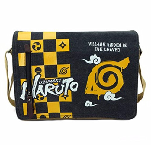 Casual Cartera de libros Backpack Amarillo juego de damas Naruto
