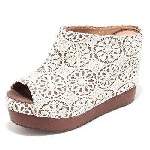 4376M sandali zeppe donna JEFFREY CAMPBELL virgo women sabot shoes sandals Bianco