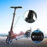 200mm XXL Big Wheel Roller, Scooter für Erwachsene, klappbar City-Scooter, höhenverstellbar Kickscooter