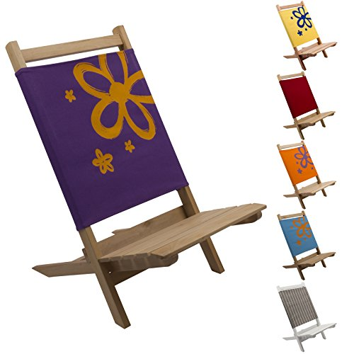 2x Kinder Klappstuhl aus Holz in lila, schöner stabiler Faltstuhl, Ideal für Camping Ausflüge, Garten Kindersitzgruppe, Kinder-Stuhl 2er Set