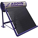 ADDIN POWER LIMITED 200 LPD Galvanize 2.5 MM Thick Tank and 58 MM x 1800 MM Vacuum Tube Water Heater ETC Type