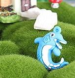LMKIJN Bella Sospensione galleggiante per acquario Ornamento delfino per acquario (blu) per l'arredamento della casa