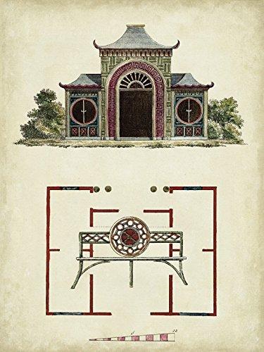 Artland Echt-Glas-Wandbild Deco Glass Vision Studio Gartentore IV Architektur Architektonische Elemente Illustration Sepia D0EF