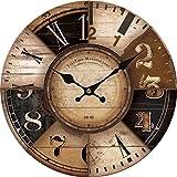 """12"""" Decoración para el Hogar Relojes de pared grande Reloj de pared silenciosa de madera Relojes de pared grande de moda de la decoración del hogar de la vendimia ZQMC062"""