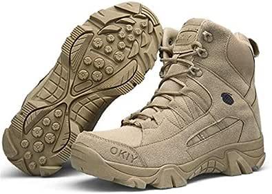 QUNLON Leggero Militare Tattico Escursionismo Zaino in Spalla Sicurezza sul Lavoro Stivali Scarpe Antiscivolo Uomo Donna 907-43EU