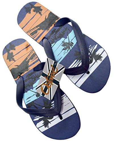 Octave , Tongs pour garçon Tropical Beach Design - Navy Mix