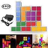 OOOUSE Tetris Nachtlicht, 7 Farben LED-Nachtlicht mit Tetris DIY Induction Night Lights Puzzles Toys neuheitsweitlich Leuchttischlampen für Teens Weihnachtsdekorationen Geschenke